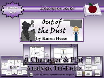 Out of the Dust by Karen Hesse Character and Plot Analysis Tri-Folds