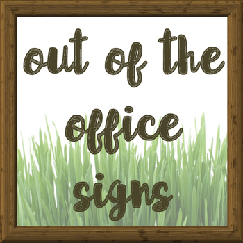 Out of the Office Posters for the Busy School Counselor