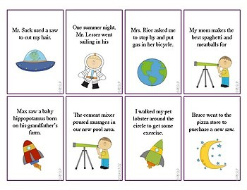 """Out of this World"" Absurd Sentences for Articulation Carryover!"