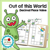 Out of this World Decimal Place Value: A file folder game