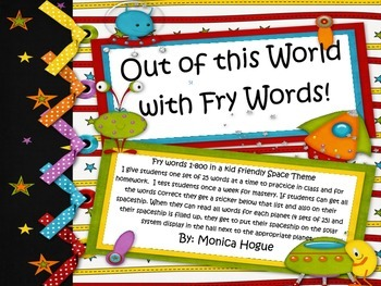 Out of this World Fry Words