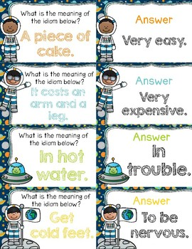 Out of this World Idioms ~ Quiz-Quiz-Trade Cards ~