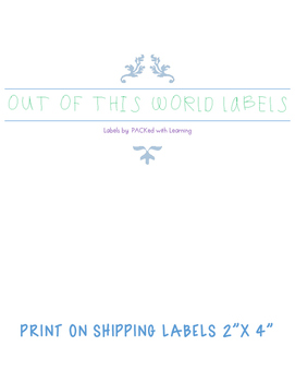 Out of this World Labels