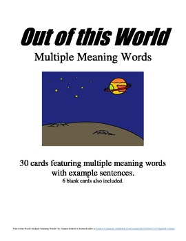 Out of this World Multiple Meaning Words