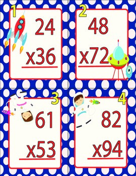 Out of this World Multiplication- 2 digit by 2 digit Augmented Reality
