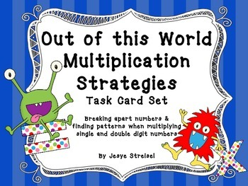 Out of this World Multiplication Strategies Task Cards