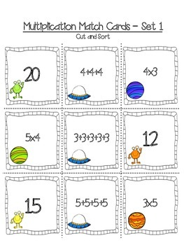 Out of this World Multiplication and Division Activities