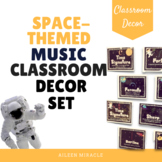 Space-Themed Music Classroom Decor Set