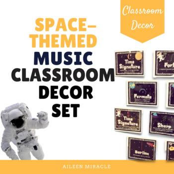 Space-Themed Music Classroom Decor Set