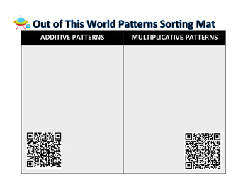Out of this World Patterns Additive and Multiplicative Only TEKS 5.4C and 5.4D