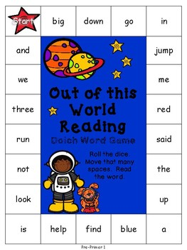 Out of this World Reading Dolch Word Games