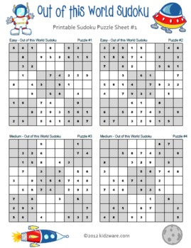 Out of this World Sudoku