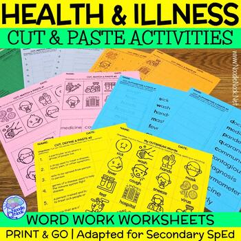 Outbreak CUT and PASTE Word Work and Word Wall for Adapted for SpEd