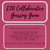 ELA Collaborative Guessing Game - End of Year Activity