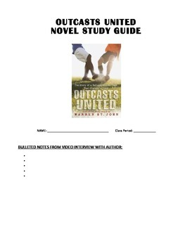 Outcasts United Novel Study - complete unit