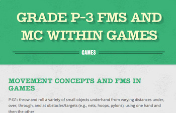 Outcome 5: P-3 Fundamental Movement Skills within Games