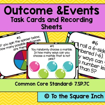 Outcomes and Events Task Cards