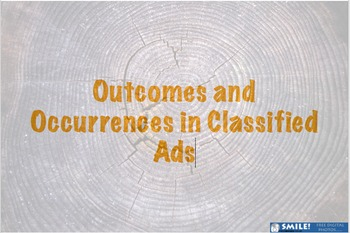 Creative Writing Mini Unit: Outcomes and Occurrences in Classified Ads