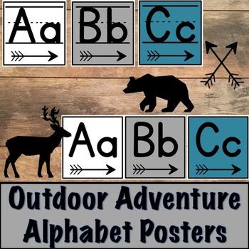 Outdoor Adventure Alphabet Posters
