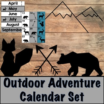 Outdoor Adventure Calendar Set with Math Integration