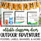 Outdoor Adventure Classroom Decor Set - EDITABLE