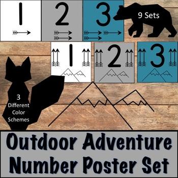 Outdoor Adventure Number Posters