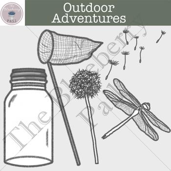 Free Outdoor Adventures Clipart Set