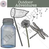 Outdoor Adventures Clip Art Set