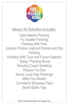 Outdoor Art Camp Lesson Plans for Kids: Mom Would Never Let Me Do This At Home!