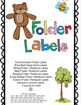 Outdoor Bear Theme Communication Labels, Notebook Labels, Journal Labels