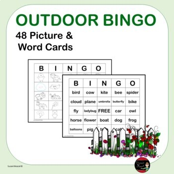 Picture and Word Bingo  K-2