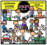 Outdoor Chores Clip Art Bundle {Educlips Clipart}