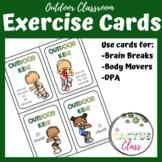Outdoor Classroom Task Cards | Exercises, brain breaks, DPA