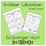 Outdoor Education Scavenger Hunt (in French)