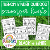 8 French Outdoor Education Scavenger Hunts! Print and Play!