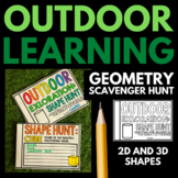 Outdoor Exploration 2D and 3D Shape Hunt Mini Book