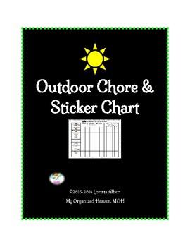Outdoor Family Chore Chart