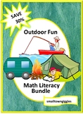 Camping Theme Activities Bundle, Cut and Paste Worksheets, File Folder Games