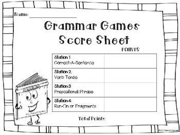 Outdoor Grammar Games BUNDLE