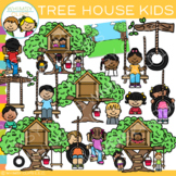 Outdoor Kids Tree House Clip Art  {Whimsy Clips Nature Clip Art}