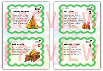 Outdoor Learning Activity Task Cards