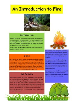 Outdoor Learning: An Introduction to Making a Fire