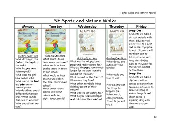 Outdoor Learning and Creativity Repeated Read Aloud Plans
