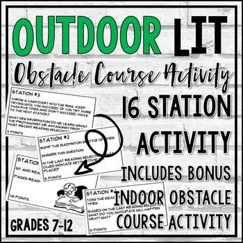 Outdoor Literature Obstacle Course Activity (includes free indoor activity!)