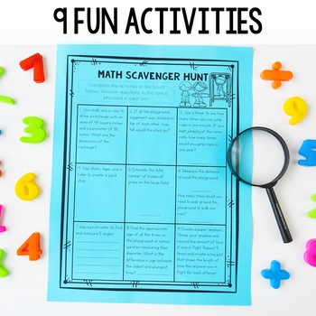 outdoor math scavenger hunt by ashleigh teachers pay teachers. Black Bedroom Furniture Sets. Home Design Ideas