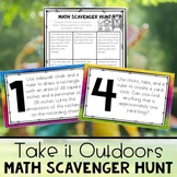 Outdoor Math Scavenger Hunt - Distance Learning