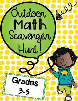 Outdoor Math Scavenger Hunt