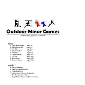 Outdoor Minor Games Unit Plan