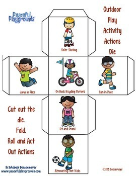 Outdoor Play Activity Dice