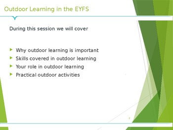 Outdoor Play in EYFS Parent Workshop PowerPoint
